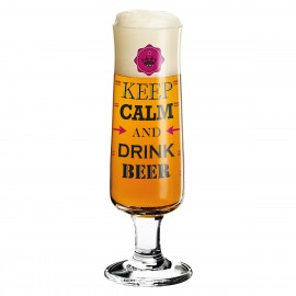 Beer GlasS Keep Calm And Drink Beer