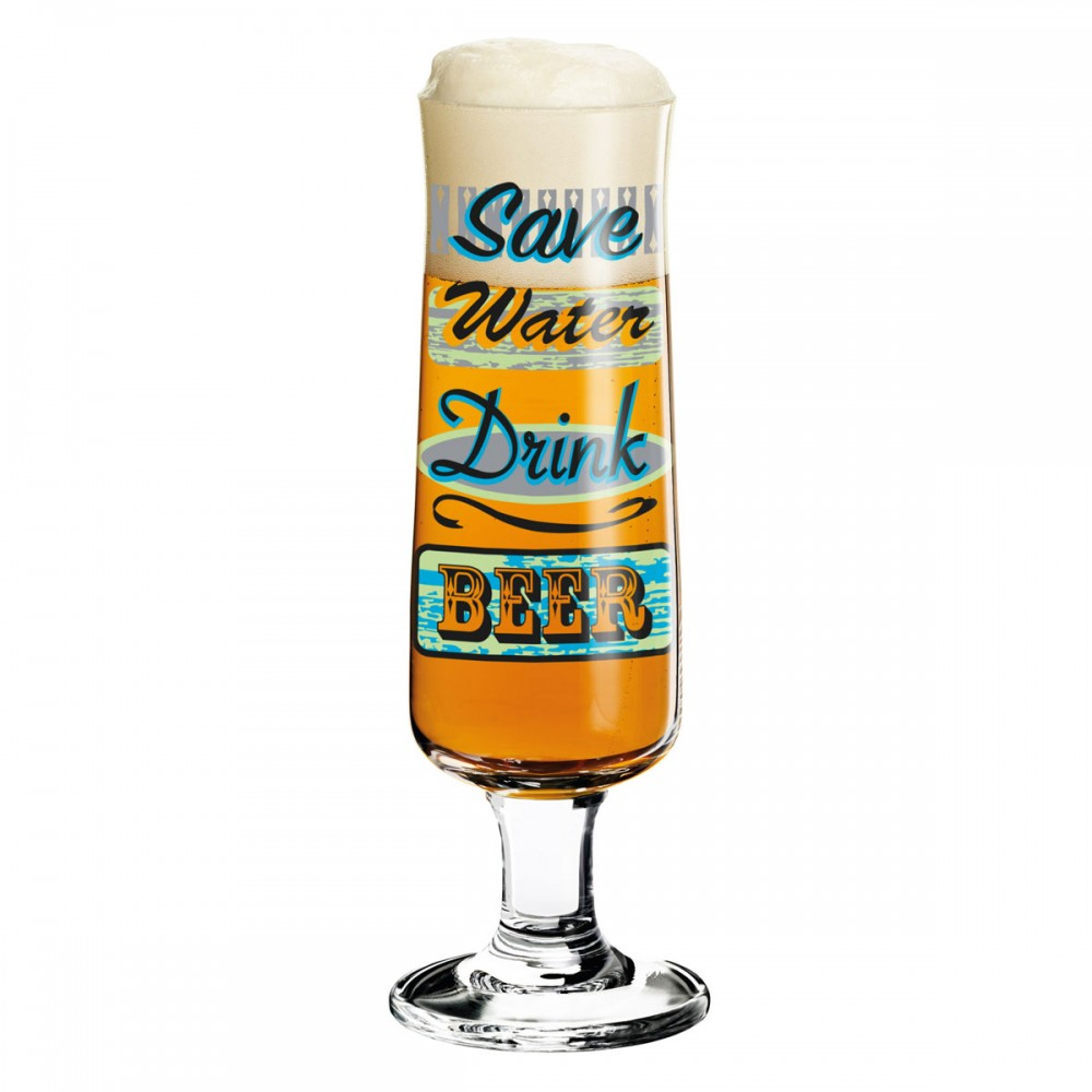 Beer Glass Save Water And Drink Beer