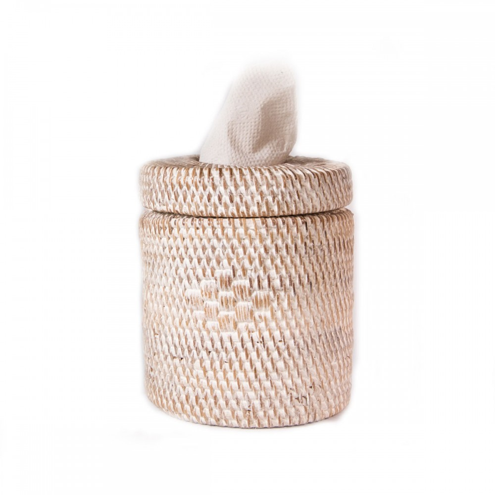 Decor Round Rattan Tissue Boxes And Baskets