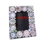 Decor Newspaper Spiral Photo And Picture Frame